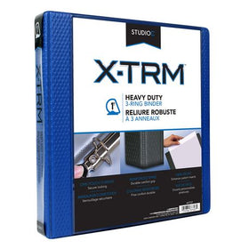 "X-TRM 1"" Vinyl Navy Heavy Duty Binder"