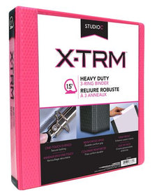 "1.5"" Pink Heavy Duty Vinyl Binder"