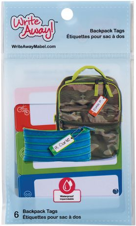 Write Away Boys Bag Tags