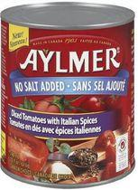 Aylmer® No Salt Diced Tomatoes with Italian Spices