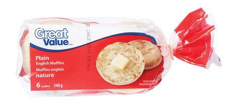Great Value Plain English Muffins