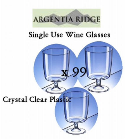 Plastic Wine Glasses 210 mL