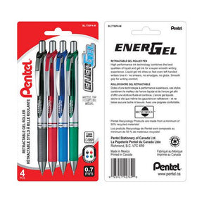 Energel Assorted Retractable Gel Roller Pen