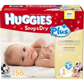 Snug & Dry Plus Diapers Size 1