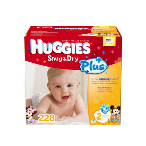 Snug & Dry Plus Diapers Size 2