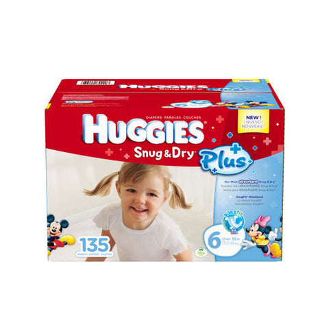 Snug & Dry Plus Diapers Size 6