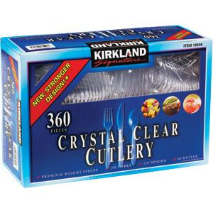Crystal Clear Cutlery Plastic Forks, Spoons, Knives