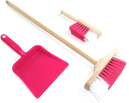 Angle Brooms Combo (2 Brooms + Brush + Dustpan)