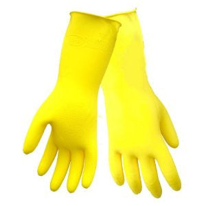 Premium Flocklined Latex Gloves M