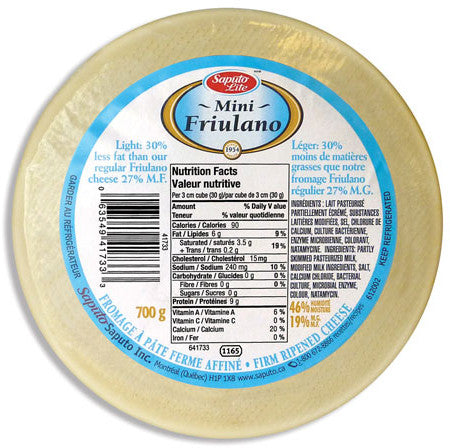Friulano Firm Ripened Cheese