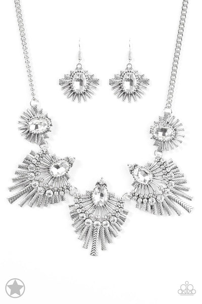 Paparazzi Accessories - Miss YOU-niverse - Silver Necklace Set - JMJ Jewelry Collection