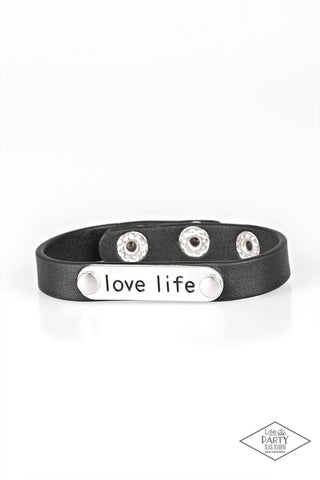 Paparazzi Accessories - Love Life - Black Bracelets - JMJ Jewelry Collection