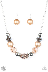 Paparazzi Accessories - A Warm Welcome - Brown Necklace Set - JMJ Jewelry Collection
