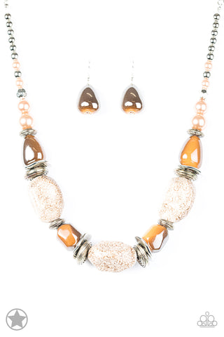 Paparazzi Accessories - In Good Glazes - Peach Necklace Set - JMJ Jewelry Collection