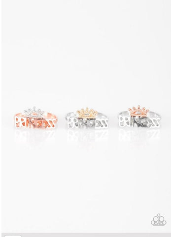 Paparazzi Accessories - Starlet Shimmer - Princess Rings