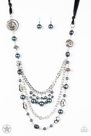 Paparazzi Accessories - All The Trimmings - Black Necklace Set - JMJ Jewelry Collection
