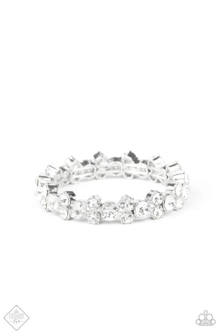 Paparazzi Accessories - Here Comes The BRIBE - White Bracelet