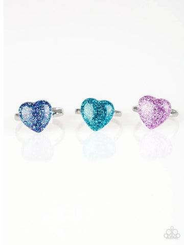 Paparazzi Accessories - Starlet Shimmer - Heart Glitter Rings