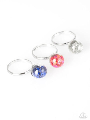 Paparazzi Accessories - Starlet Shimmer - Round Glitter Rings