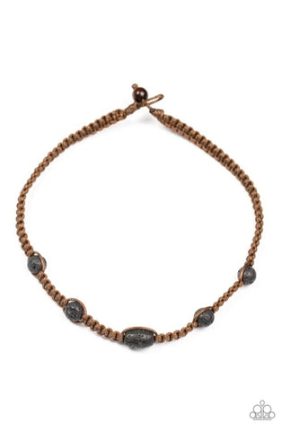 Paparazzi Accessories - Lone Rock - Brown Urban Necklace