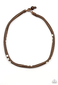 Paparazzi Accessories - Altitude Adjustment - Brown Urban Necklace