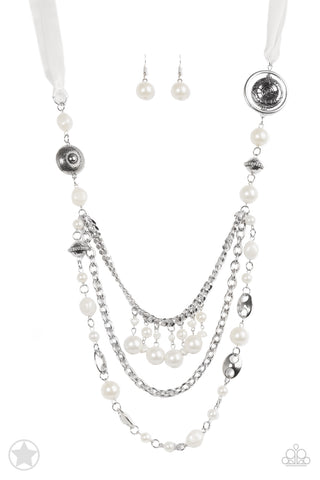 Paparazzi Accessories - All The Trimmings - Ivory Necklace Set - JMJ Jewelry Collection