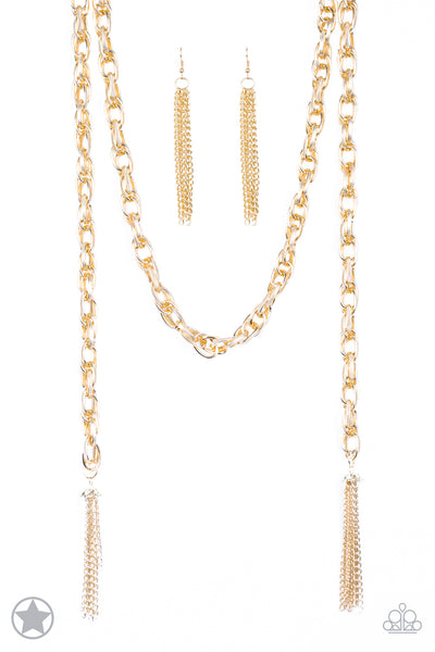 Paparazzi Accessories - Scarfed for Attention - Gold Necklace Set - JMJ Jewelry Collection