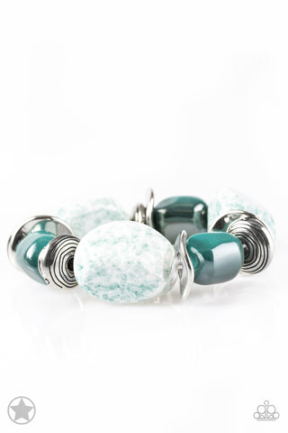 Paparazzi Accessories - Glaze of Glory - Blue Bracelet - JMJ Jewelry Collection