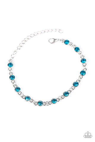 Paparazzi Accessories - Hold On To Your SPARKLE! - Blue Bracelets - JMJ Jewelry Collection