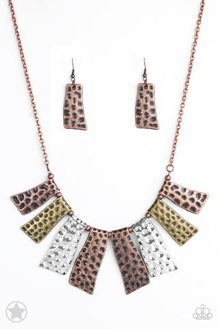 Paparazzi Accessories - A Fan of the Tribe - Multicolor Necklace Set - JMJ Jewelry Collection