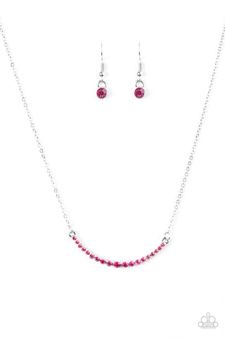 Paparazzi Accessories - Rockin Rhinestones - Pink Necklace Set - JMJ Jewelry Collection