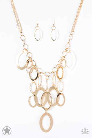 Paparazzi Accessories - A Golden Spell - Gold Necklace Set - JMJ Jewelry Collection