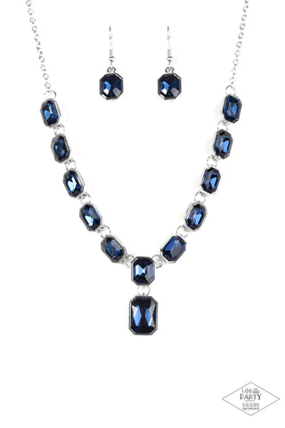 Paparazzi Accessories - The Right To Remain Sparkly - Blue Necklace Set