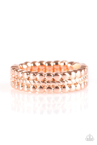 Paparazzi Accessories - Tres Chic - Copper Ring - JMJ Jewelry Collection