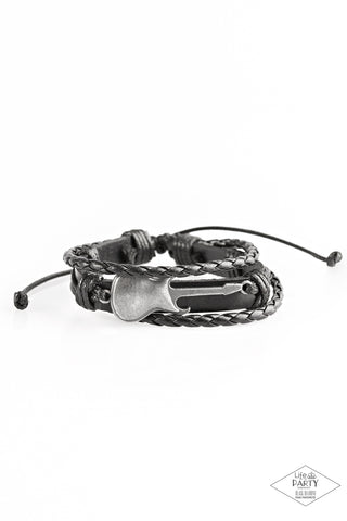 Paparazzi Accessories - Lead Guitar - Black Bracelet