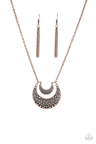 Paparazzi Accessories - Get Well MOON - Copper Necklace Set - JMJ Jewelry Collection