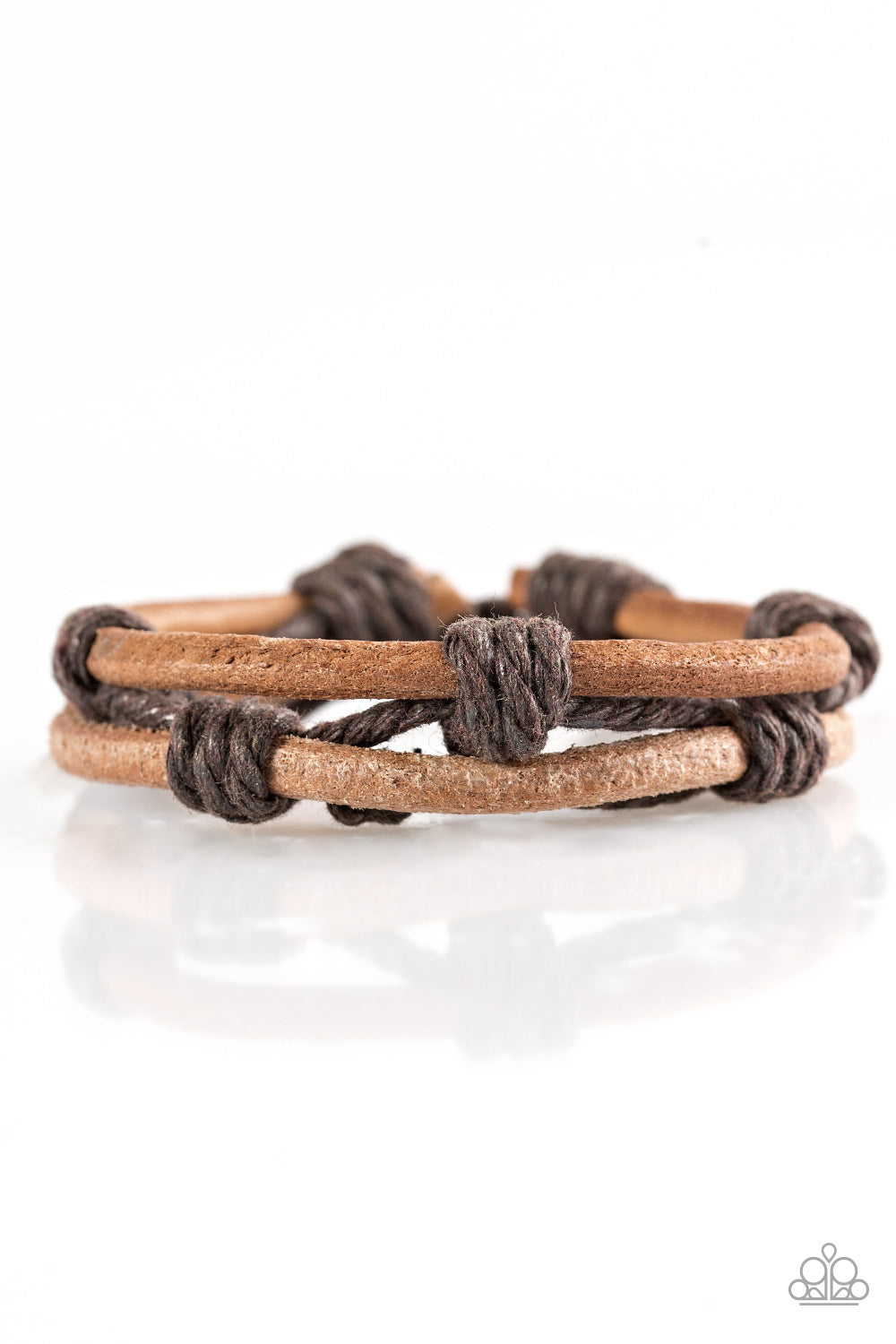 Paparazzi Accessories - Off The Beaten Path - Brown Bracelet - JMJ Jewelry Collection