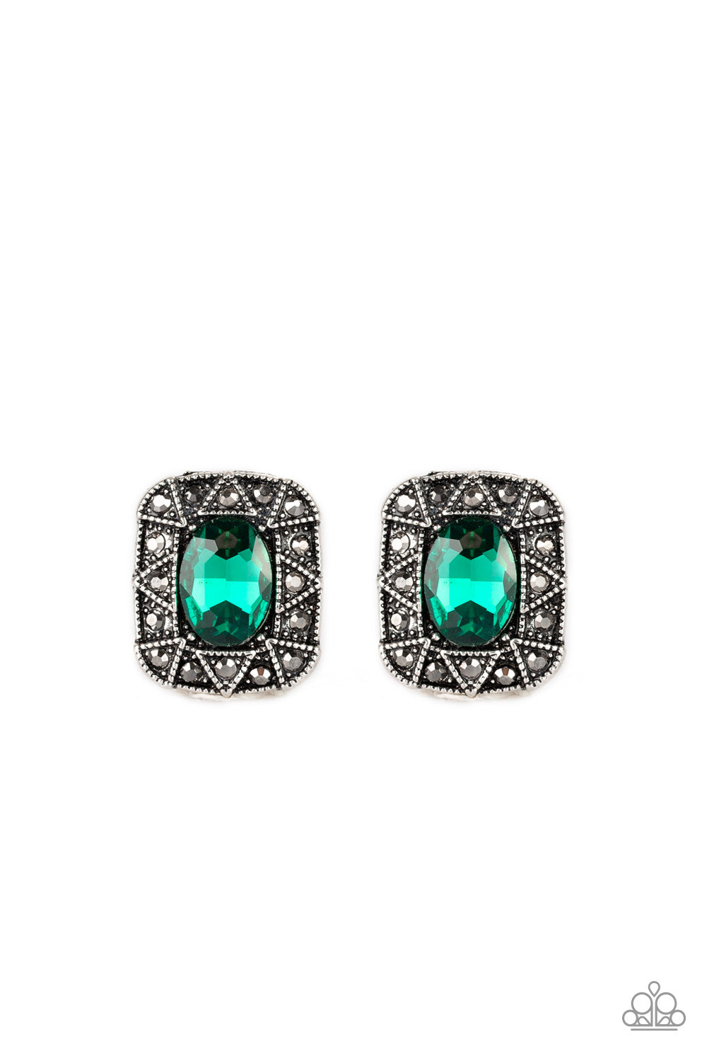 Paparazzi Accessories - Young Money - Green Earrings - JMJ Jewelry Collection