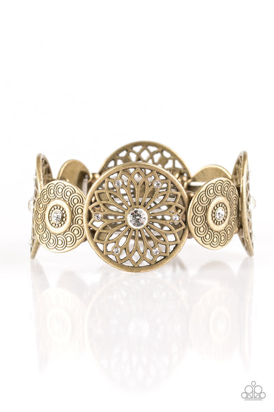 Paparazzi Accessories - Love WHEEL Find A Way - Brass Bracelets - JMJ Jewelry Collection