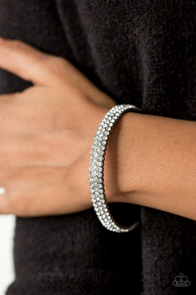 Paparazzi Accessories - Ballroom Bling - Black Bracelet - JMJ Jewelry Collection