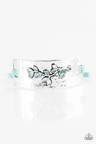 Paparazzi Accessories - Branching Out - Blue Bracelet - JMJ Jewelry Collection