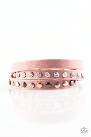 Paparazzi Accessories - Catwalk Casual - Pink Wrap Bracelet - JMJ Jewelry Collection