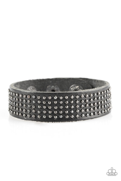 Paparazzi Accessories - Road Pilot - Black Bracelet - JMJ Jewelry Collection