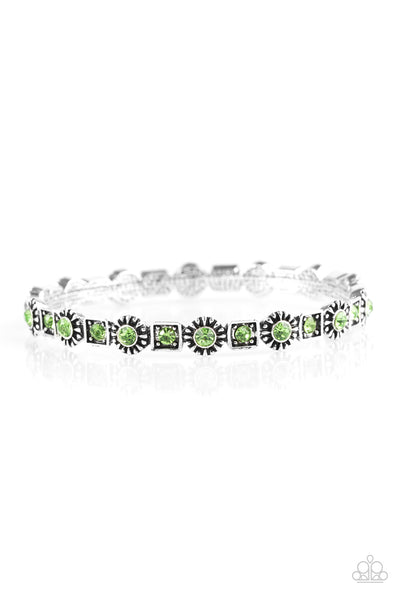 Paparazzi Accessories - Spring Inspiration - Green Bracelet - JMJ Jewelry Collection