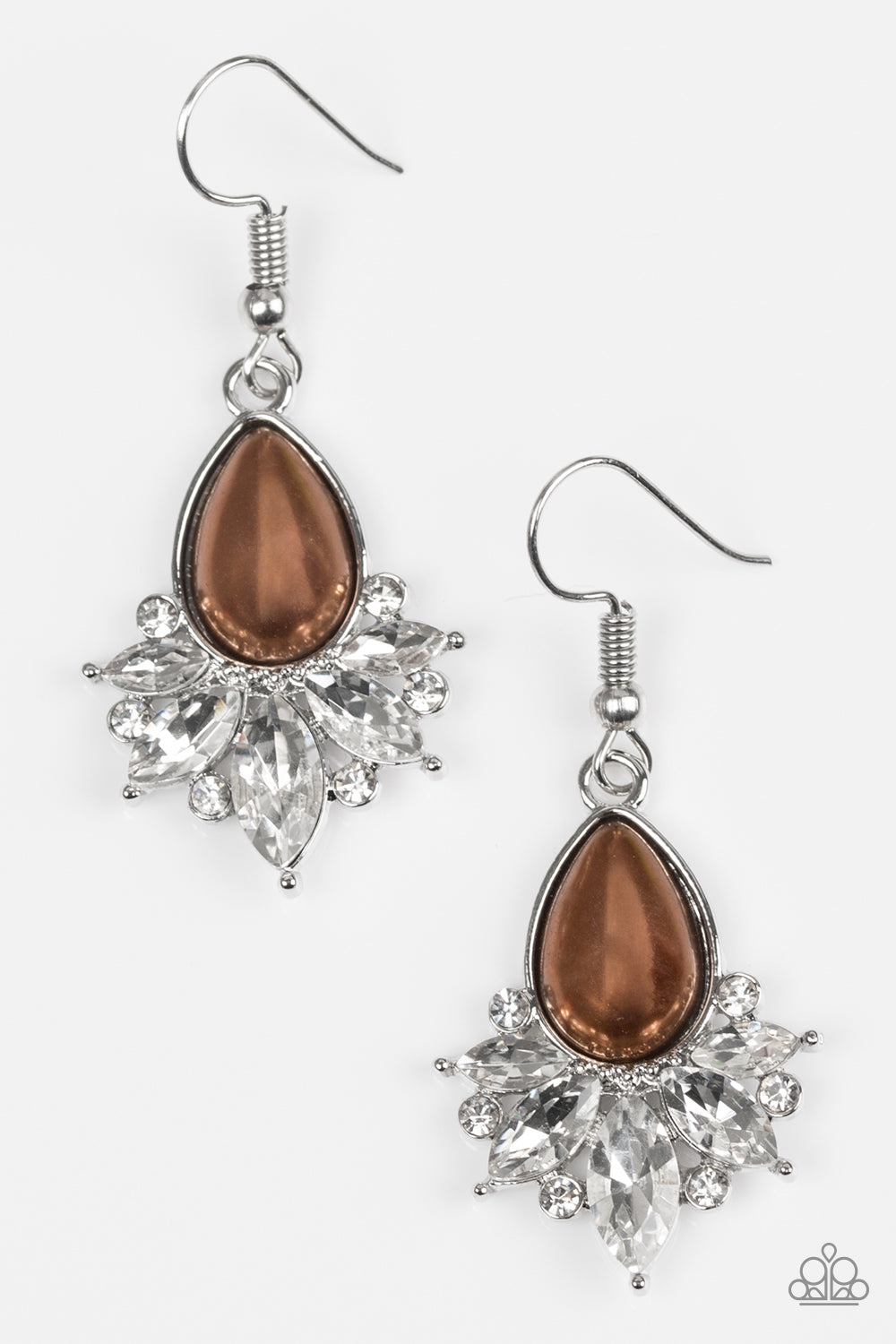 Paparazzi Accessories - Regal Reputation - Brown Earrings - JMJ Jewelry Collection