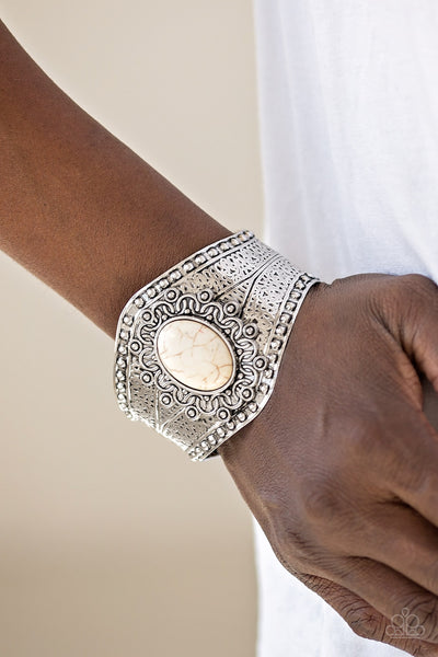 Paparazzi Accessories - Mojave Majesty - White Bracelets - JMJ Jewelry Collection