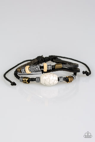 Paparazzi Accessories - Across The Globe - Black Bracelet - JMJ Jewelry Collection