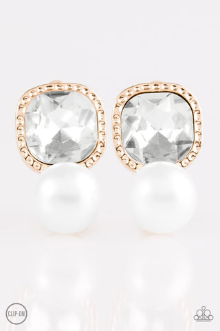 Paparazzi Accessories - Gatsby Gleam - White Earrings - JMJ Jewelry Collection