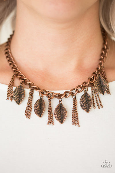 Paparazzi Accessories - Serenely Sequoia - Copper Necklace Set - JMJ Jewelry Collection