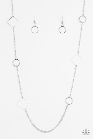Paparazzi Accessories - Full Frame - Silver Necklace Set - JMJ Jewelry Collection